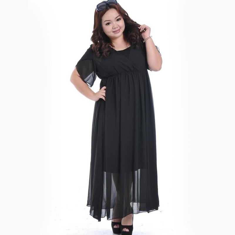 Long Bohemian Chiffon Dress for women Big Size dresses ...