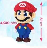 31cm 4500pcs Education Mini Nano block For Kids' Special Gift Cartoon Figure Super Mario Model Building Magic Blocks Bricks Toy