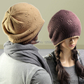 Free Shipping 2014 New Fashion Casual Beanie Knitted Rabbit Fur Hat Gorro Hats For Women/Men Winter Beanies Caps Big Baggy Caps