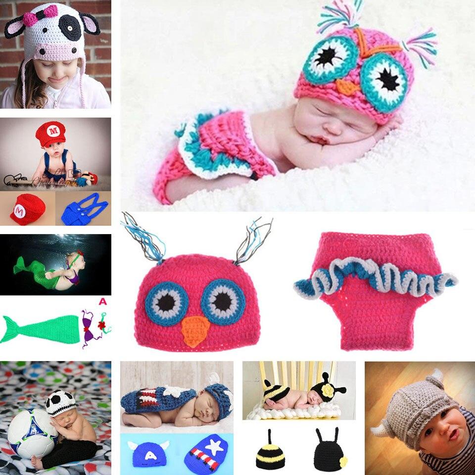 Lovely Milk Cow Baby Hat Knitted Crochet Kids Winter Beanies Crochet Newborn Baby Photo Prop Super Hero Costume MZS-14128