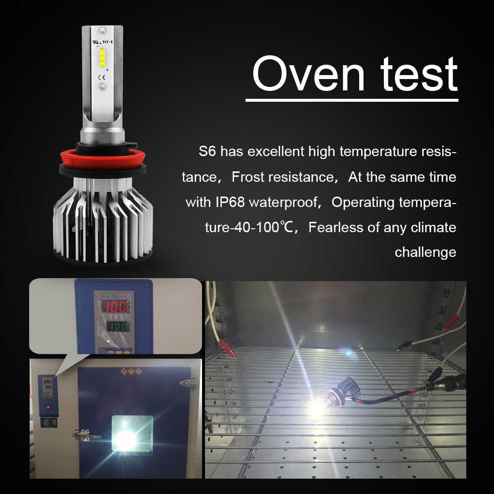 CROSSFOX Auto Lamp Headlight Bulb LED H7 H4 H11 H1 H8 H9 9005 HB3 9006 HB4 LED 12V 6000K Car Light CSP Chips Automobile Styling