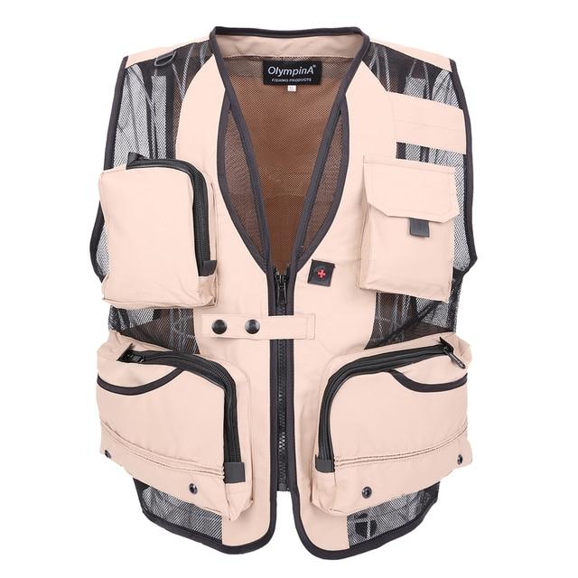 Men's Multi PocketS Vest Summer Casual photography  Regular Reporter Mesh Vest Plus Large size XL-5XL Vest Men With Many Pockets