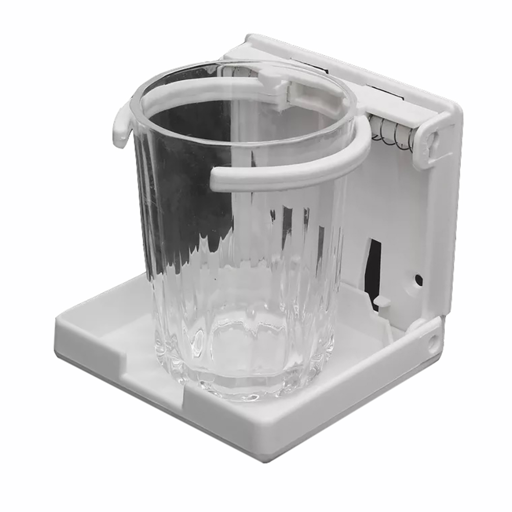 2 X Adjustable Folding Black Nylon Drink Coffee Cup Holder