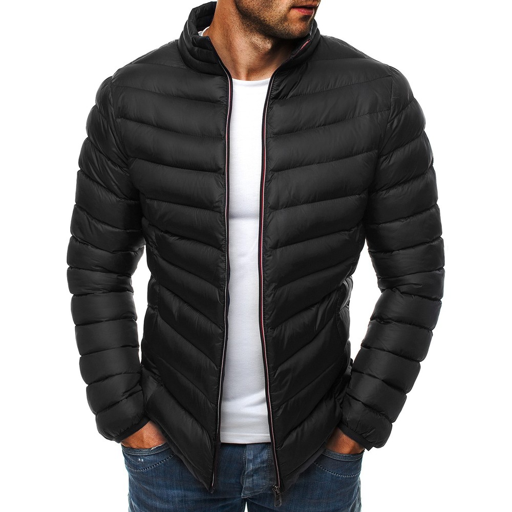 ZOGAA mens   parkas   colorful men winter jacket Casual puffer coat solid zipper overcoat streetwear men Simple coat clothes 2018