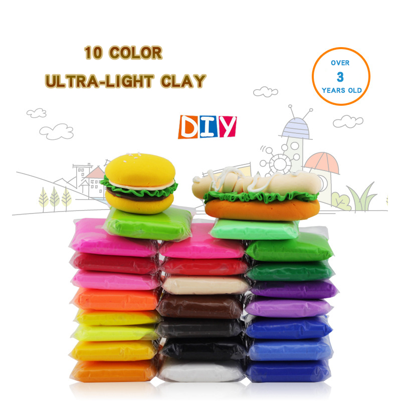 Retail 100g bag 24 colors safe and nontoxic Malleable Fimo Polymer Clay playdough Soft Power toys