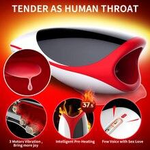 LETEN Multi Speed Electric Masturbator Artificial Vagina Masculino Automatic Oral Masturbation Cup Sex Toys For Men Pocket Pussy