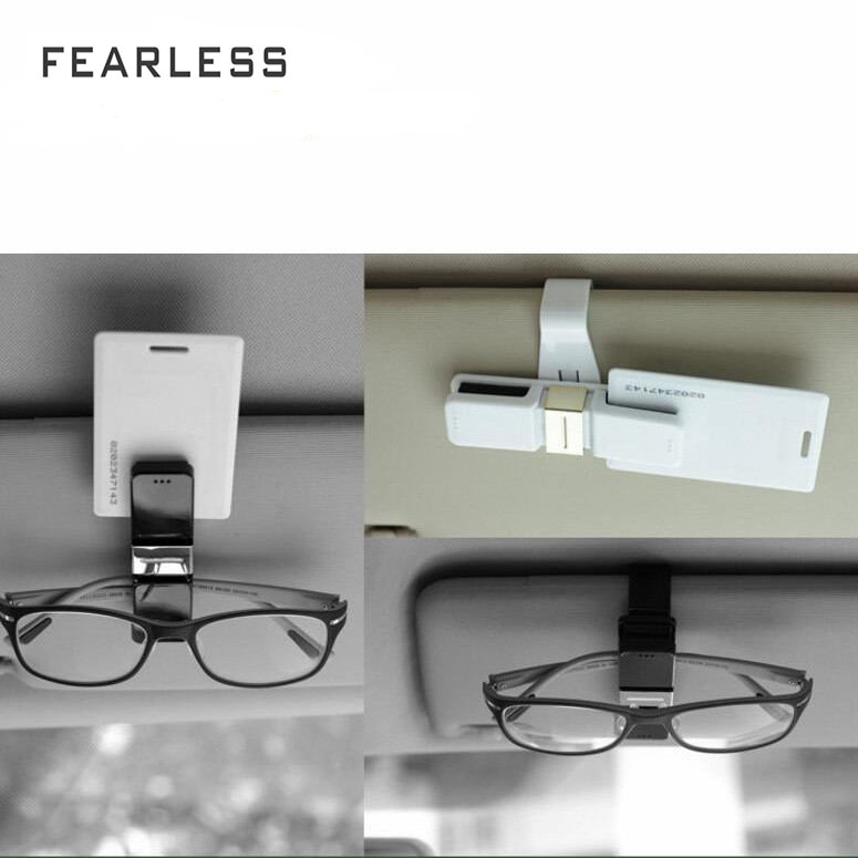 For AllCar Glasses Folder High - End Auto Box Car With Eye Holder Double Clip 0.07Beautiful Easy Installation Toughness