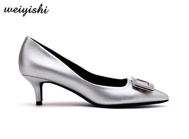 2018 여성 새로운 패션 신발. 여성 신발, weiyishi 브랜드 007-에서여성용 펌프부터 신발 의  그룹 3