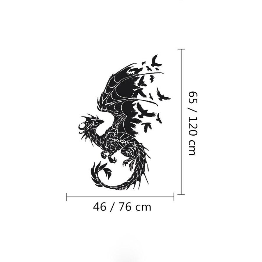 ASAPFOR Dragon Birds Fantasy Fairytale Gothic Wall Decals - Үйдің декоры - фото 5