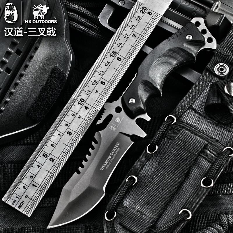 HX OUTDOORS Survival font b knife b font army font b hunting b font tools high