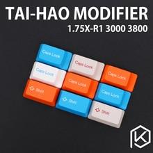 Taihao modificateur de capuchons de clé abs, décalage 1,75u, 3800 3850 3000 3494 1865 1869 mx2.0, couleur de verrouillage r1 r2