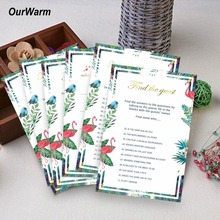 OurWarm 150pcs Bridal Shower Games He Said She Party Favors For Large Group Flamingo Theme