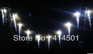 New Year Icicle ice LED battery Christmas holiday lights flashing bar shop decoration lamp String light good quality