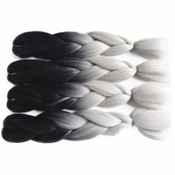Feilimei ombre braiding 60cm 100g synthetic jumbo braids black gray purple blue green blonde brown crochet.jpg 250x250
