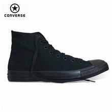 Классические Оригинальные холщовые туфли Конверс all star, 2 цвета, высокие классические мужские и женские кроссовки для скейтбординга