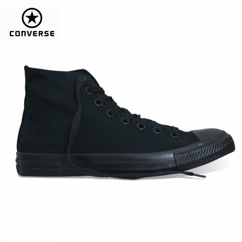 classic Original Converse all star canvas shoes 2 color high classic Skateboarding men and women's sneakers shoes classic original converse all star men and women sneakers canvas shoes all black and beige low skateboarding shoes