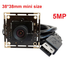 Wholesale 38*38mm 5.0MP High Resolution 2592×1944 1/2.5 Aptina MI5100 CMOS Microscope Endoscope usb digital camera board