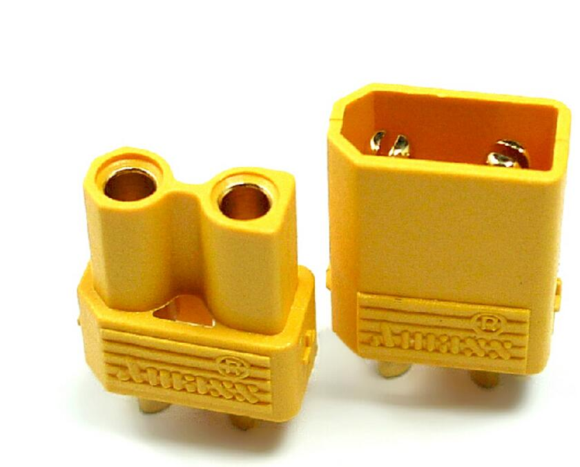 10pair/lot Amass XT30 with 2mm gold-plated banana plugs XT60 smaller version of AMASS hot models hollow parts ...