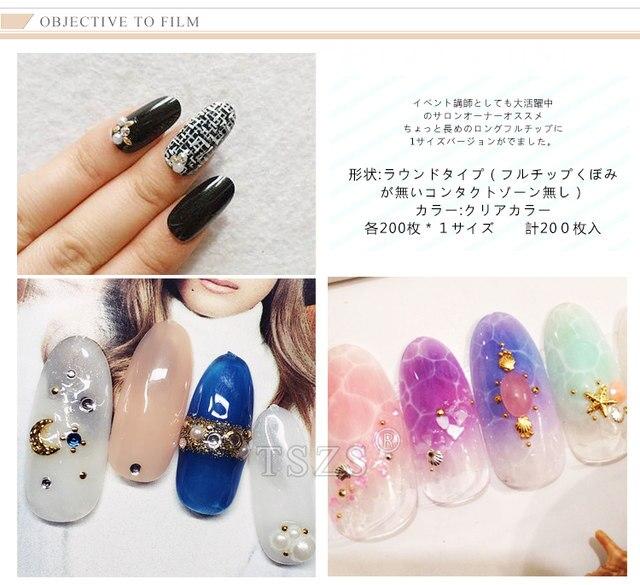 Online Shop 1bags/lot 200pcs Japanese style elegant Clear long oval ...