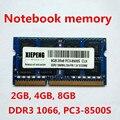 8 ГБ 2Rx8 PC3-8500S 1066 МГц DDR3 4 Гб 1066 МГц память ноутбука 2G pc3 8500 ноутбук 204-PIN SODIMM RAM