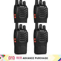 4 ピース baofeng bf-888s トランシーバー 888 ポータブル handphone 財布 telsiz インターホンインターホン狩猟 10 キロメートルトランシーバーアマチュア無線