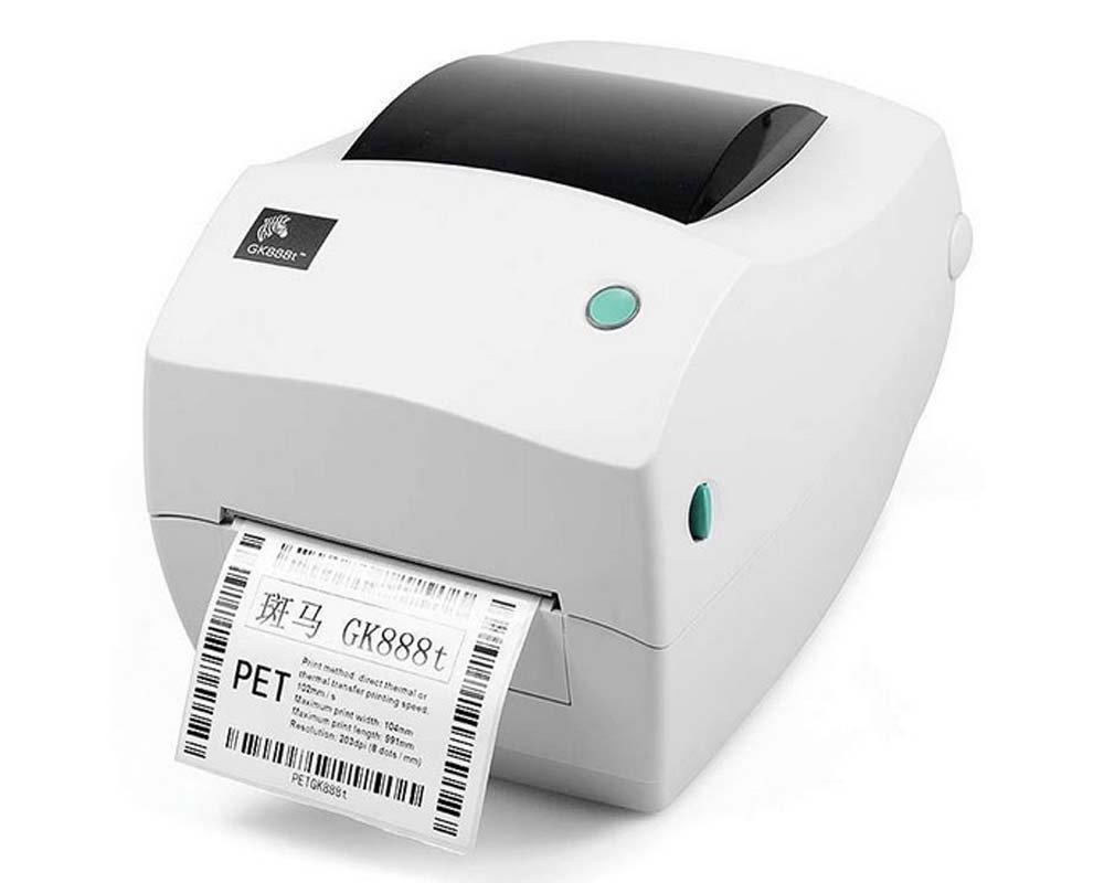 Zebra GK888T Desktop Direct Thermal/Thermal Transfer Label Printer, 4