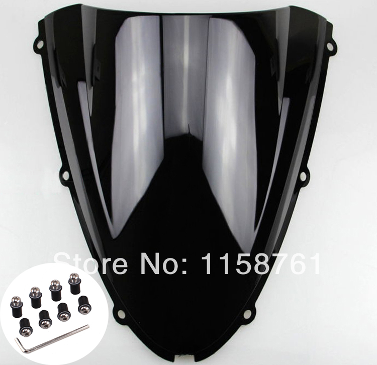 FREE SHIPPING New Black Windshield Windscreen For Kawasaki ZX10R 2006 2007 New gt motor free shipping motorbike windshield deflector windscreen mounting screws for kawasaki er 6n er6n 2012 2016
