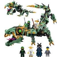06051 592pcs Movie Series Flying Mecha Dragon Building Blocks Bricks Toys Children Gifts Compatible Ninja