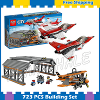 723pcs City Airport Air Show Jet Plane Hangar Model Building Blocks 02007 Assemble Kit Children Gifts sets Compatible With Lego