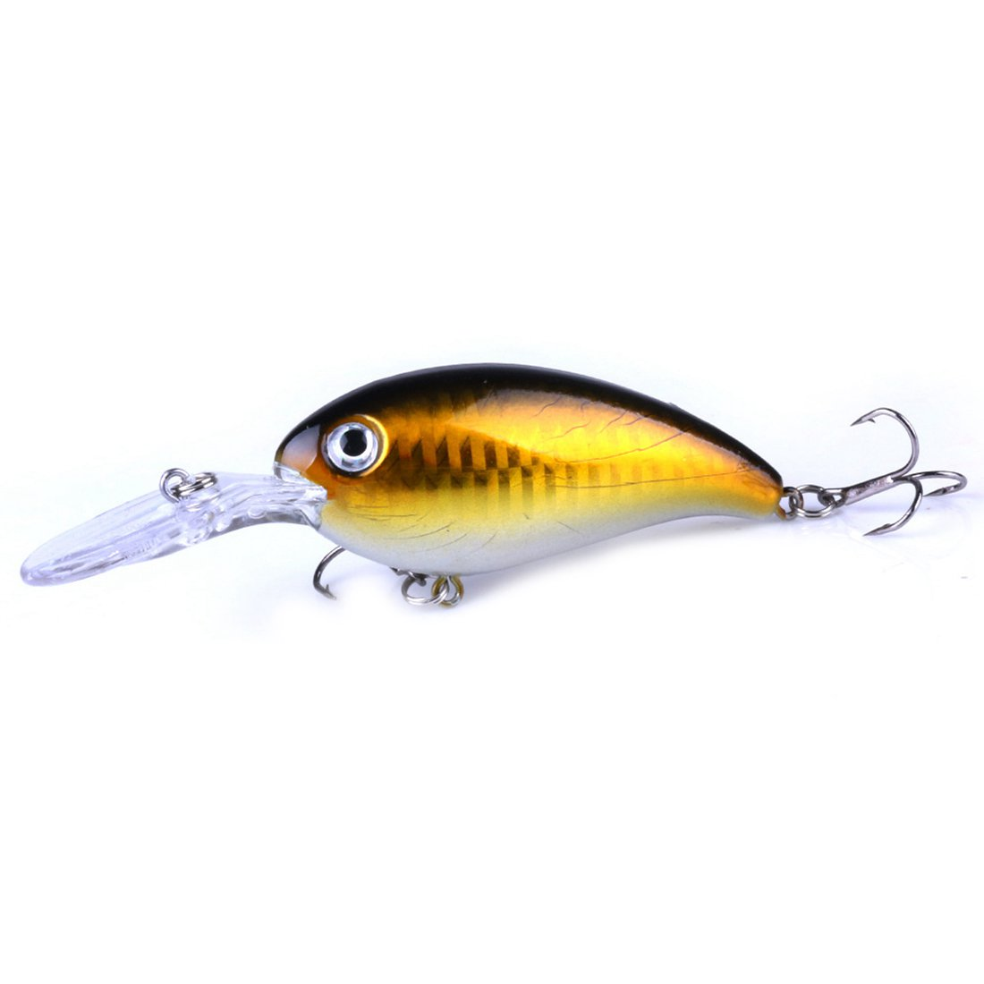 HENG JIA Sea fishing road Asian rock bait 10cm / 14g bait Luya plastic bait, Yellow Body ...