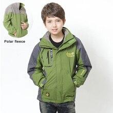 6-14 ans 2 pièce garçon manteau veste imperméable + polaire doublure enfants manteau automne enfants d'hiver en plein air vestes épaissir tranchée