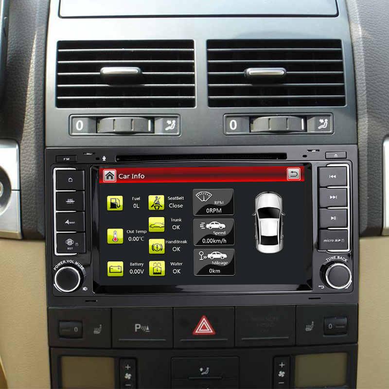 2 喧騒車のマルチメディア DVD プレーヤー Vw/フォルクスワーゲン/トゥアレグ/トランスポーター T5 2004 2005 2006 2007 2011 autoRadio オーディオ GPS ナビゲーション