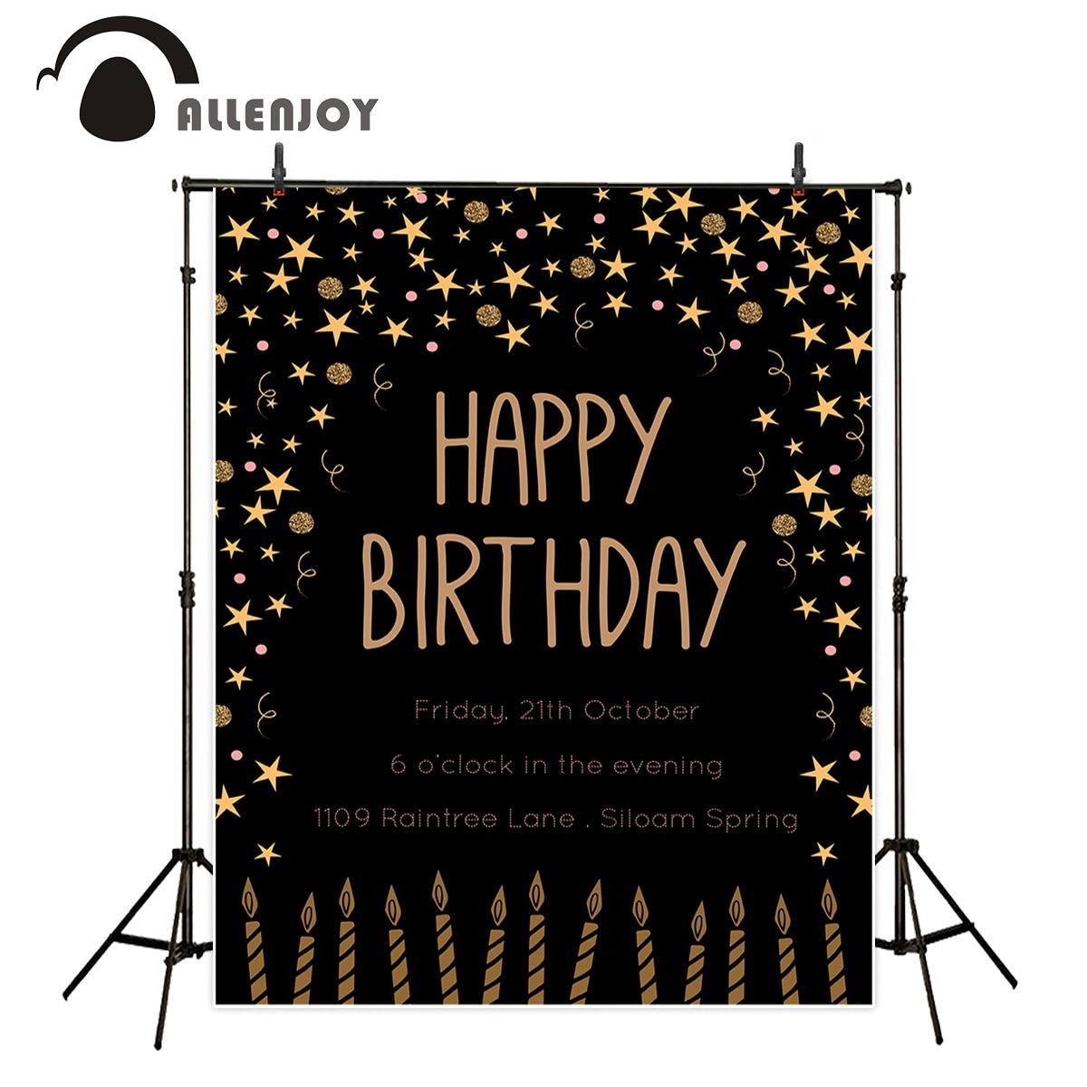 Allenjoy fotózás hátterek boldog születésnapi csillag gyertya - Kamera és fotó
