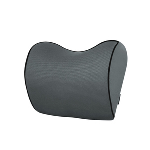 Image 5 - 1 個車のヘッドレスト首枕のための座椅子自動低反発綿メッシュクッション生地カバーソフトヘッドレストトラベルサポート