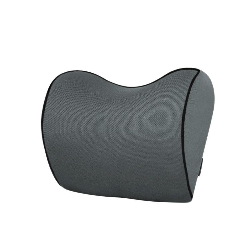 1PCS Car Headrest Neck Pillow for seat chair in auto Memory Foam cotton mesh cushion Fabric