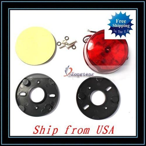 Free Shipping + Emergency Security Alarm LED Strobe Flashing Light Red Ship from USA-E01138