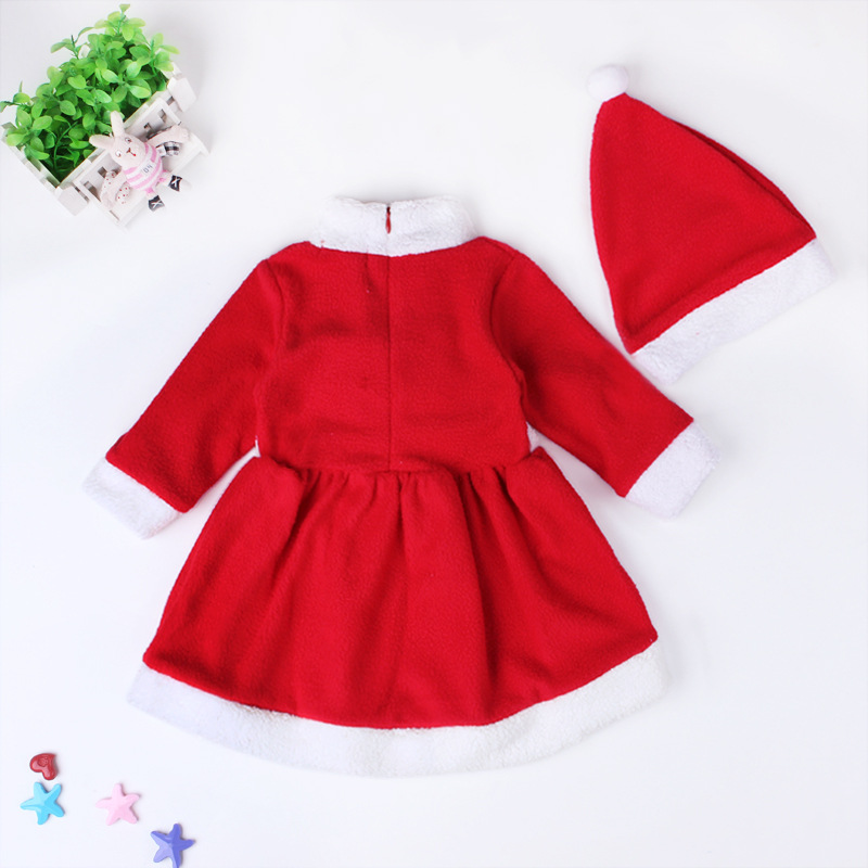 80a0d675a 2017 New 1 2 year baby girl winter dress christmas Red santa little ...