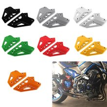 Motorcycle Accessories Foot Peg Heel Protection Protective Film Mount Heel Guard Protector For Kawasaki Z900 2017 annke 4k ultra hd 8ch video security system 8mp 5in1 h 265 dvr with 4pcs 8mp outdoor weatherproof cctv surveillance cameras kit