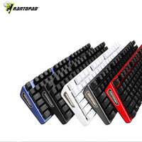 Rantopad MXX black / white PC computer game mechanical keyboard 87 key luxury black aluminum cover USB for DOTA2 tank world CSgo