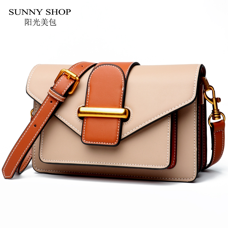 SUNNY SHOP Luxury Handbags Women Bags Designer Genuine Leather Women Messenger Bag Small Crossbody Bags women leather handbags for kawasaki ninja 250 z250 er6n f versys 650 shad sh36 motorcycle luggage side case box rack bracket carrier system