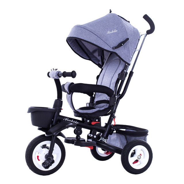 Portable Child Tricycle Bike Folding Three Wheel Seat Tricycle Stroller Bicycle Baby Cart