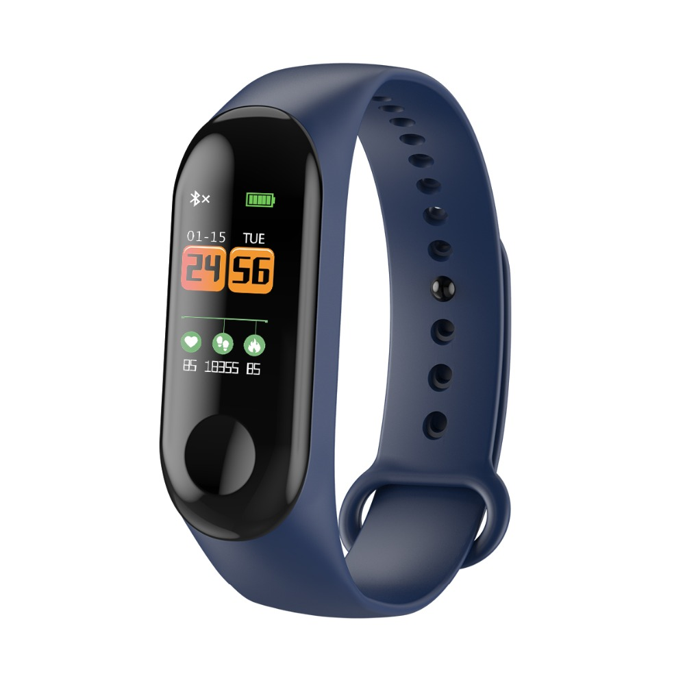 HAIOM New Wristbands Smart Band Heart Rate Monitor Fitness Bracelet W3 Waterproof Smart Band Bluetooth for IOS Android Phone