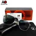 АО очки «Авиатор» Для мужчин с Оригинальная Коробка Чехол, ткань для очистки Винтаж солнечные очки в стиле ретро Американский оптический ...