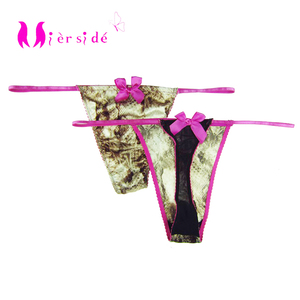 Mierside 2pcs/lot women's briefs Thongs Female String Sexy Underwear Vintage print Panties XS/S/M/L/XL/XXL/3XL