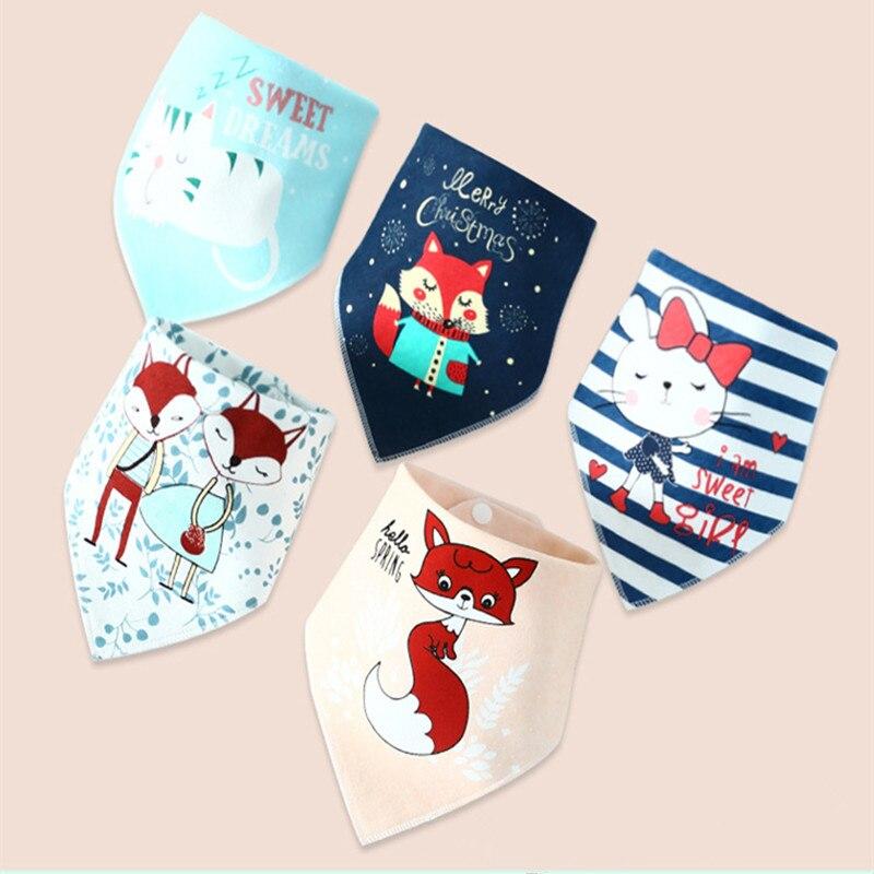 Cotton Boy Girl Bandana Bib Burp Cloth Print Animal Triangle Baby Bibs For Baby Scarf Meal Collar Burp Baby Accessories