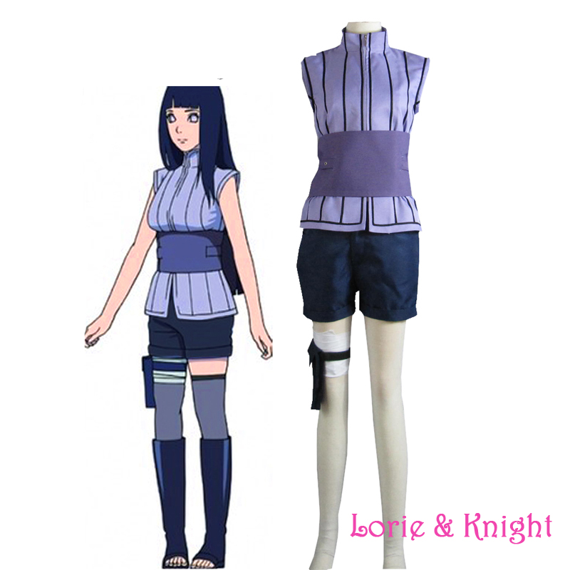 Japanese Anime Cosplay NARUTO The Last Movie Hinata Hyuga Cosplay Costume for Adult Women/Kids/Customized Available