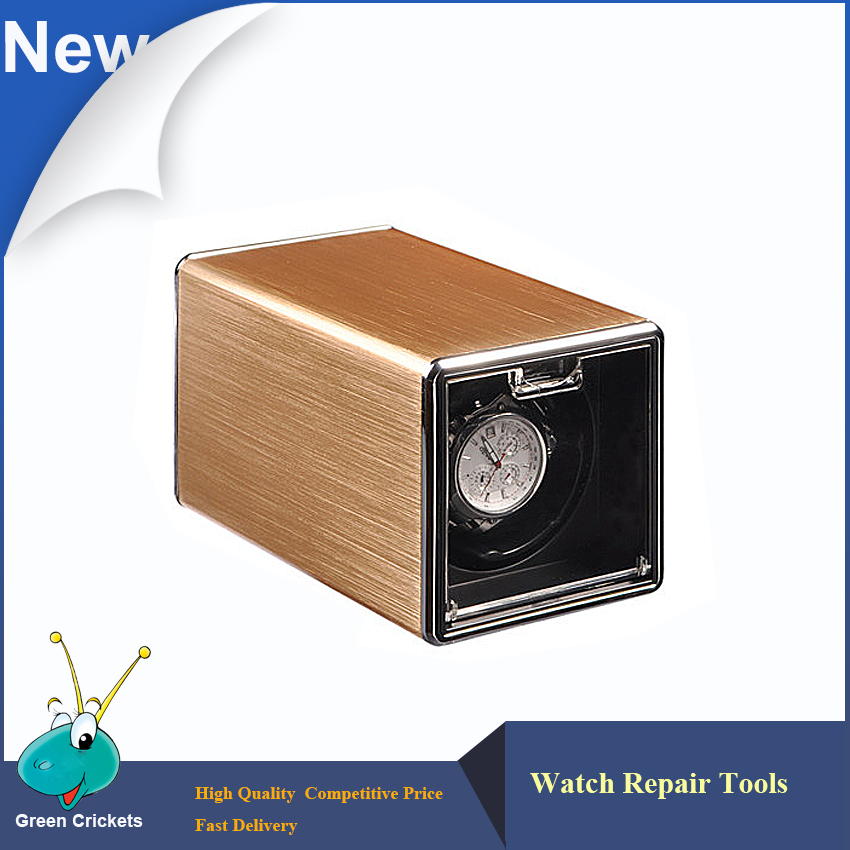 2017 Latest Golden Shell  Automatic Watch Winder box,Ultra Quiet Motor 4 Modes Watch Winder watch winder lt wooden automatic rotation 2 0 watch winder storage case display box white