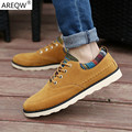 2017 Spring Autumn New Men's Casual Shoes Men's Flats Shoes Suede Leather Breathable Business Lazy Low Shoes