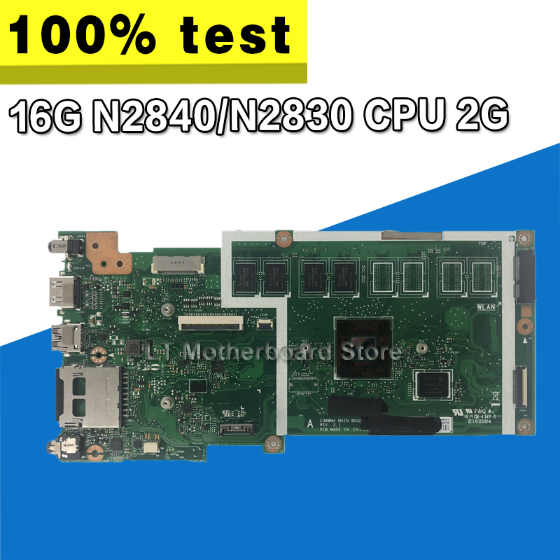 C300MA motherboard For ASUS  C300MA  C300M mainboard work 100% Test original  EMMC16G N2840/N2830 CPU 2G RAM rev2.1C300MA motherboard For ASUS  C300MA  C300M mainboard work 100% Test original  EMMC16G N2840/N2830 CPU 2G RAM rev2.1