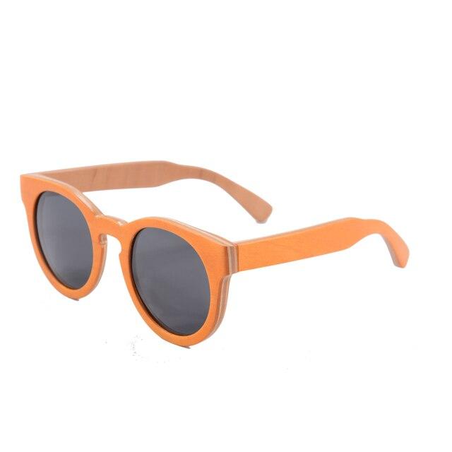 56fd3b9f281 Hot Sale Round Sunglasses Women Polarized Skateboard Zebra Wood Sunglasses  Men Driving Eyeglasses Shade Gafas De Sol Mejur 68005